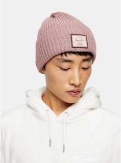 Herschel - Mens Purple Herschel Mauve Beanie Hat, Purple