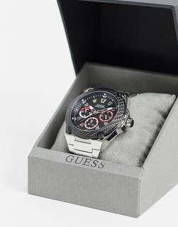 guess - Goldene Armbanduhr mit schwarzem Zifferblatt