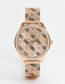 guess - Chronograf mit rosa Armband