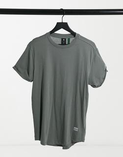 G-Star - Legeres T-Shirt in Khaki-Grün