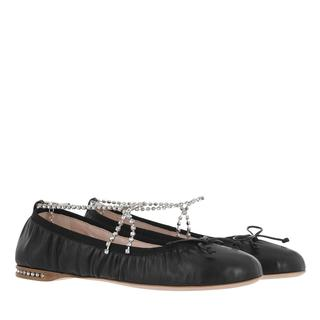 Miu Miu - Ballerinas - Round Toe Ballerina Black - in schwarz - für Damen
