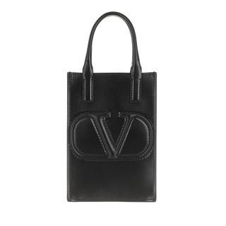 Valentino - Umhängetasche - Smartphone Case Leather Black - in schwarz - für Damen
