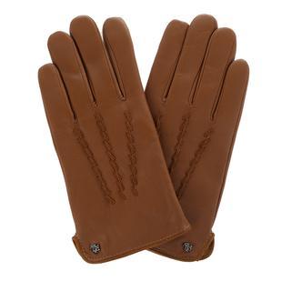 Lauren Ralph Lauren - Handschuhe - Glove Leather Cuoio - in cognac - für Damen