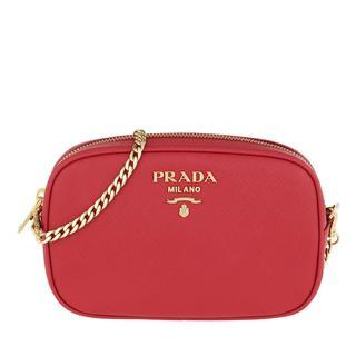 Prada - Gürteltasche - Saffiano Leather Belt Bag Fuoco - in rot - für Damen