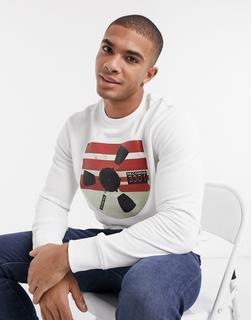G-Star - Record Reel – Sweatshirt mit Rundhalsausschnitt und Grafik-Weiß