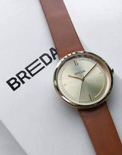 Breda - Agnes – Armbanduhr mit braunem Armband