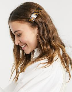 ASOS DESIGN - Haarspange in Schildpattoptik-Mehrfarbig