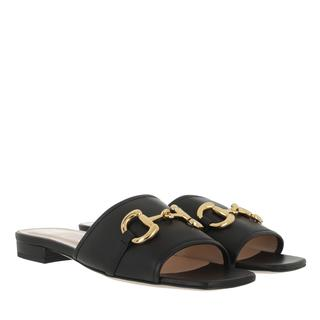 Gucci - Sandalen - Horsebit Low Sandal Slide Black - in schwarz - für Damen