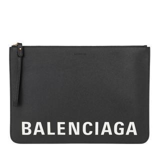 balenciaga - Clutch - Logo Clutch Leather Black - in schwarz - für Damen