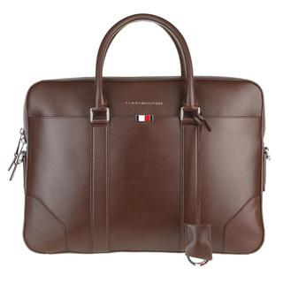 TOMMY HILFIGER - Aktentasche - Business Leather Slim Companion Bag Chestnut - in braun - für Damen