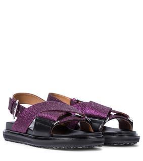 Marni - Sandalen aus Leder mit Gitter