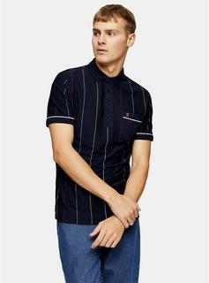 Farah - Mens Farah Navy Polo Shirt*, Navy