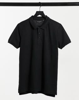 Brave Soul - Kurzärmliges Polohemd in Schwarz