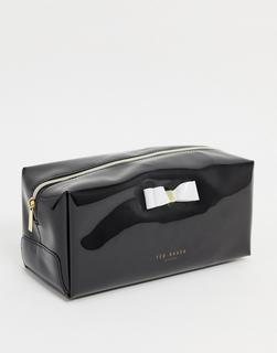 TED BAKER - Haiyley – Kulturtasche in Schwarz mit Zierschleife