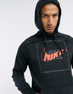 Nike Training - Thermo-Kapuzenpullover mit Logo in Schwarz