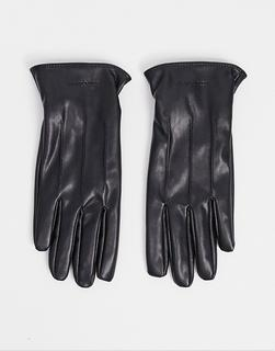 Jack & Jones - Handschuhe aus Kunstleder-Schwarz