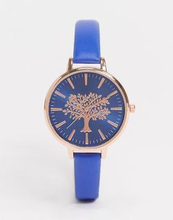 Brave Soul - Marineblaue Armbanduhr mit Zifferblatt in Roségold