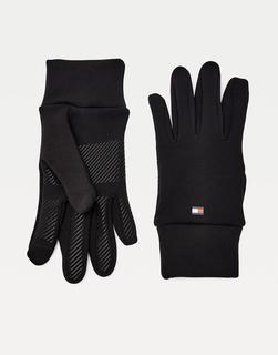 Tommy Jeans - Waschbare Handschuhe aus Polyester in Schwarz