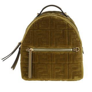 Fendi - Rucksack - FF Monogramme Mini Backpack Green - in grün - für Damen