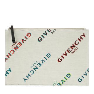 Givenchy - Clutch - Rainbow Logo Print Pouch Off White/Multi - in bunt - für Damen