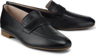 Paul Green - Leder-Slipper in schwarz, Slipper für Damen