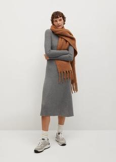 MANGO - Kleid aus geripptem strickjersey