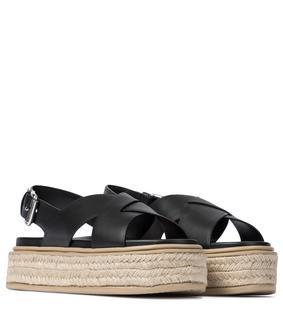 Prada - Espadrille-Sandalen mit Leder