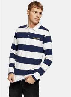 Jack & Jones - Mens Jack & Jones Navy Stripe Polo, Navy