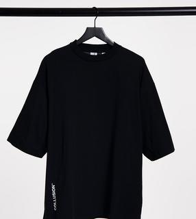 Collusion - Schwarzes Oversize-T-Shirt mit Logo