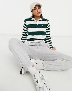 GANT - Langärmliges Polohemd mit gemischten Streifen-Grün