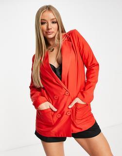 In The Style - Oversize-Blazerkleid in Rot