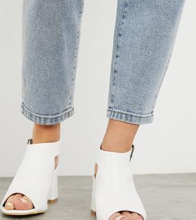 Simply Be - Extra Wide Fit – Weiße Sandalen mit Absatz
