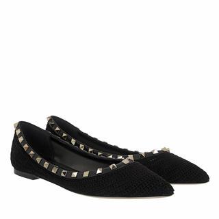 Valentino - Ballerinas - Rockstud Ballet Flat Black - in schwarz - für Damen