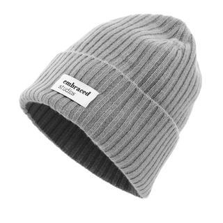 Embraced Studios - Caps - Wool-Cashmere Ribbed Hat Grey - in grau - für Damen