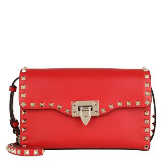 Valentino - Umhängetasche - Rockstud Crossbody Bag Red - in rot - für Damen