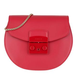 Furla - Umhängetasche - Metropolis Round Mini Crossbody Bag Ruby - in rot - für Damen