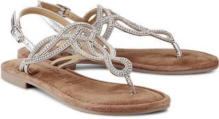 Tamaris - Trend-Sandalette in silber, Sandalen für Damen