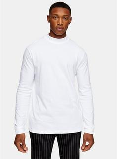 Topman - Mens 2 Pack Navy And White Turtle Neck T-Shirt Multipack*, Multi