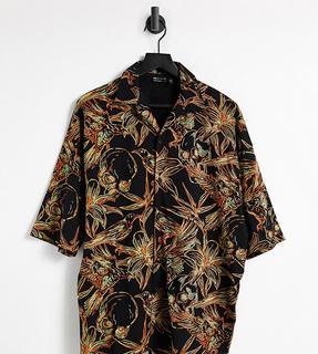 ASOS DESIGN - Tall – Oversize-Polohemd in Schwarz