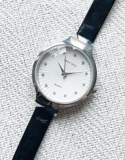 Brave Soul - Schwarze Armbanduhr mit silbernem Zifferblatt