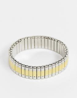 Topman - Armbanduhr in Gold und Silber-Mehrfarbig