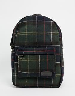 Barbour - Carrbridge – Hellbrauner Twill-Backpack mit Schottenkaros-Bronze