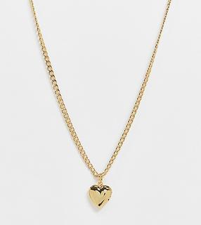 Orelia - Vergoldete Halskette mit Herzanhänger
