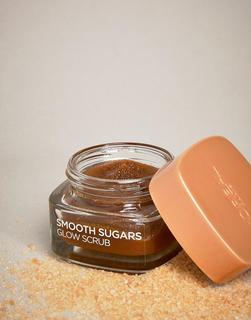 Loreal - L'Oreal Paris – Smooth Sugar Glow – Gesichts- und Lippenpeeling mit Traubenkernöl, 50 ml-Braun