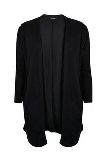 Evans - Black Soft Touch Cardigan, Black