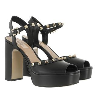 Valentino - Sandalen - Rockstud Sandals Leather Black - in schwarz - für Damen