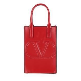 Valentino - Umhängetasche - Smartphone Crossbody Bag Leather Rouge - in rot - für Damen