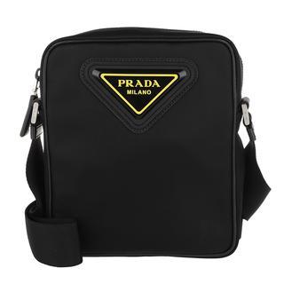 Prada - Umhängetasche - Detailed Crossbody Messenger Bag Black/Yellow - in schwarz - für Damen