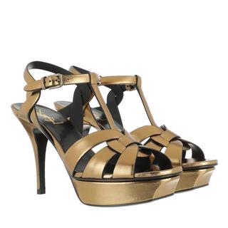 Saint Laurent - Ballerinas - Tribute Plateau Sandals Oro Scuro - in gold - für Damen