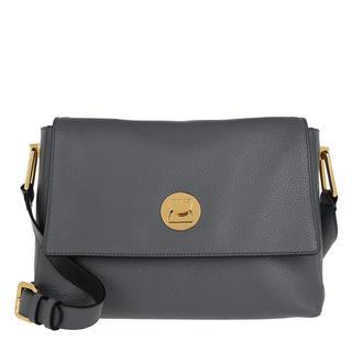 coccinelle - Umhängetasche - Handbag Grainy Lea Ash Grey/Noir - in grau - für Damen
